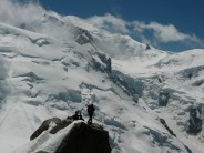 Cosmiques Arete with Mont Blanc in Background