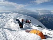 The 'Illegal' Camp Site of the Gouter Route (Mont Blanc)