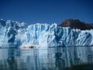 san rafael glacier, block falling...