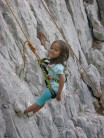 Gabby dogging an F2 sport route, Takes after her dad