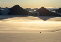 Returning to camp, Paul Stern Land, East Greenland