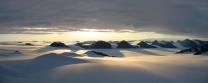 Midnight sun, Paul Stern Land, East Greenland