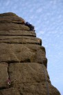 JiveWeasel on Right Hand Tower, Stanage, HVS 5a