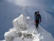Mark's first winter climb.