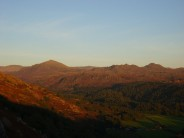 Sunset over Eskdale and surrounding hills